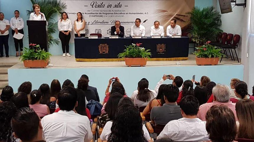 visita del Comité Técnico de Acreditación del Consejo para la Acreditación de Programas Educativos en Humanidades, A.C. (COAPEHUM)