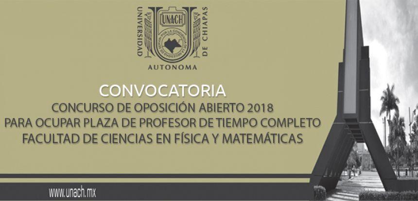 Concurso abierto de oposición 2018