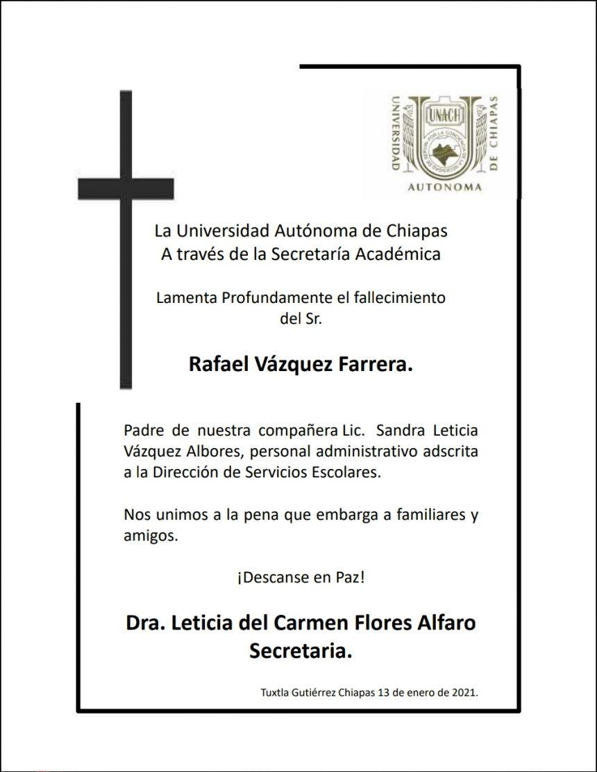 DRA. LETICIA DEL CARMEN FLORES ALFARO, SE UNE A LA PENA QUE EMBARGA A LOS FAMILIARES Y AMIGOS